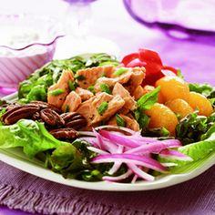 Euro Salmon Salad With Gorgonzola Dressing