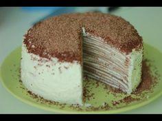 ▶ Рецепт блинного торта. Блинный торт с кремом. - YouTube