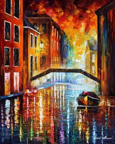 """""""The Canals of Venice"""" by Leonid Afremov"""