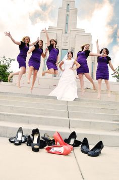 Bridesmaids jumping picture  jaclyn heward photography