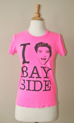 KID DANGEROUS I LOVE BAYSIDE T-SHIRT Pink Saved By The Bell Zack Morris Tee S #KidDangerousGrimeCouture #GraphicTee