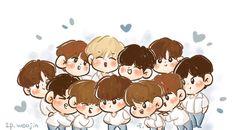 Kpop Drawings, Always Remember You, Lai Guanlin, Ji Sung, Seong, Little Boys, Chibi, Kawaii, Fan Art