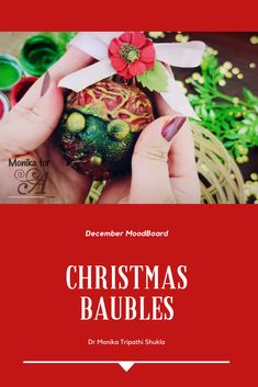 mixed media - ornament - christmas Christmas Baubles, Christmas Colors, Christmas Decorations, Christmas Traditions, Mixed Media, Create, Blog, Christmas Ornaments, Christmas Tree Baubles