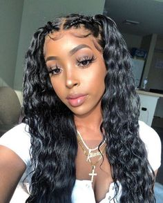 Black Wigs Lace Frontal Lace Closure Sleek Ponytail Weave Black And Green Hair Raw Hair Good Cheap Wigs Black And Green Hair, Black Curly Hair, Lace Front Wigs, Lace Wigs, Bobs Blondes, Blonder Bob, 100 Human Hair Wigs, Baddie Hairstyles, Curly Hairstyles