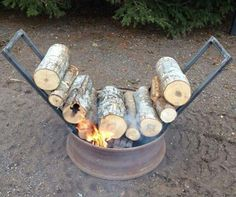 Cool way to enjoy a fire without constantly putting logs on!