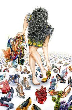 Infinite. Watercolor and Graphite, 18 x 27,2011.#fashion #illustration #fashionillustration