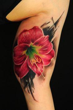Tattoo-Foto: Hippeastrum