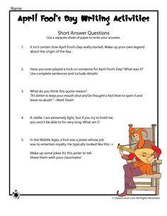 short essay for kids April Fools report card kids give to parents (freebie) Spelling Worksheets, Free Kindergarten Worksheets, Writing Worksheets, Worksheets For Kids, Writing Activities, Printable Worksheets, Teaching Writing, Kindergarten Classroom, Best April Fools