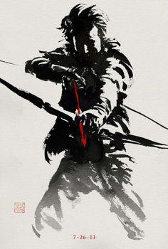 Harada Increíble serie de posters de The Wolverine / Lobezno Inmortal, de estilo japonés