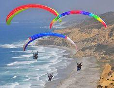 Black's Beach - Things to do in San Diego San Diego Vacation, San Diego Travel, San Diego Restaurants, Torrey Pines, Hang Gliding, Paragliding, California Dreamin', Summer Travel, Air Travel