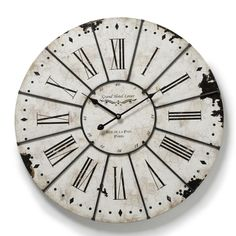amusing oversized wall clock for wall accessories ideas: Rustic Oversized Wall Clock With Roman Numerals For Wall Accessories Ideas
