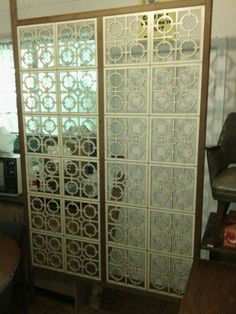 Paul Kafka Retro Room Divider Partition Screen, retro parker eames era