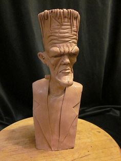 Stylized Frankenstein bust WIP by Blairsculpture.deviantart.com on @deviantART