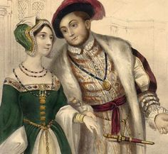 Henry VIII and Anne Boleyn....a more accurate picture of what Henry looked like when he met Anne. He wasn't always fat people!