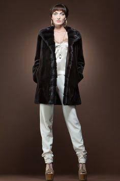 sheared mink jacket | Brown Sheared and Mahogany Mink Reversible Fur Jacket