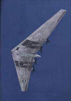 Northrop Flying Wing strategic bomber, predecessor to the Stealth Bomber. Military Jets, Military Aircraft, Flying Wing, Stealth Bomber, Colani, Old Planes, Experimental Aircraft, Jet Plane, Yachts
