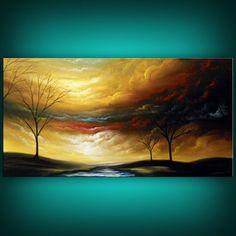 modern art abstract original painting abstract tree by mattsart