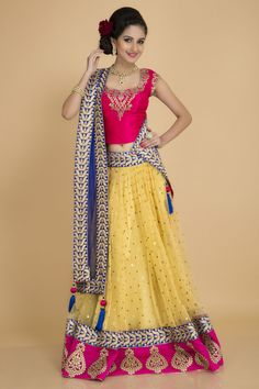 Unleash your love for ethnic wear with this one of a kind vibrant