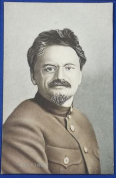 1910's Japanese Postcard Leon Trotsky Russia Soviet communism Bolshevik / vintage antique old art card / Japanese history historic paper material Japan