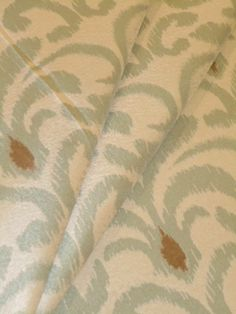 Pattern Donati in Color Seafoam Ikat design multipurpose fabric, 100% polyester, for home decor and interior design, only $25.95 per yard    #Ikatfabric #ColorSeafoam #HomeDecorating #multipurposefabric #interiordesign #homedecor #decoratorfabric