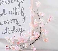 Crepe Paper Blossom Branch #ad #homedecor #cherryblossompaper