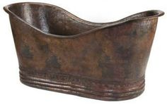 Copper Tubs: grand slipper bathtub $3,200.00  via rustica