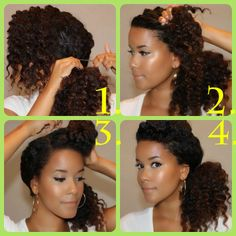 Side Pony + Roll | Tutorials for Natural and Curly Hair