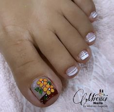 Pretty Toe Nails, Pretty Toes, Magic Nails, Toe Nail Designs, Nails Inspiration, Pedicure, Hair Beauty, Nail Art, Videos