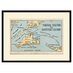 Check out this item at One Kings Lane! Martha's Vineyard Map