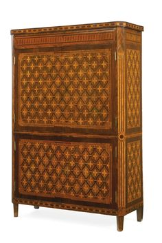 A LOUIS XVI KINGWOOD, SYCAMORE, FRUITWOOD AND MARQUETRY SECRÉTAIRE adapted, stamped J. Dautriche Jacques van Oostenrijk dit Dautriche (d. 1778), made in 1765