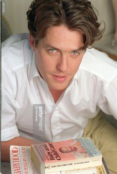 hugh grant blue eyes and pink lip...
