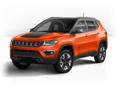 All-New Jeep Compass Trailhawk in Spitfire Orange Orange Jeep, Jeep Cherokee Trailhawk, Jeep Truck, Jeep Jeep, Cool Car Pictures, Jeep Brand, Chevrolet Trax, Compact Suv, Jeep Compass