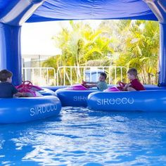 Sirocco Marine North's Bumper Boats was a hit with the kids in the Family Zone