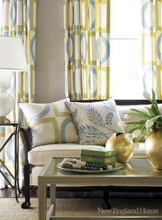great pattern Verdigris Vie: Blue and Yellow