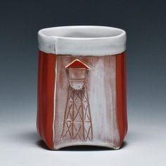 Crimson Laurel Gallery's cup show, Source Material: Liz Zlot Summerfield Water Tower Cup