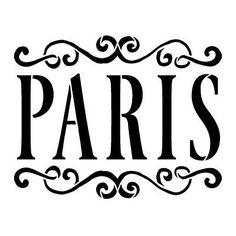 "Paris Word Art Stencil - Vintage Scrolls - 6"" x 6"" - http://crafts.goshoppins.com/art-supplies/paris-word-art-stencil-vintage-scrolls-6-x-6/"