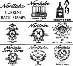Noritake Backstamps | HISTORY OF THE NORITAKE BACK STAMP