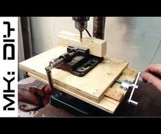 """I´m very frustrated that I don´t have a milling machine in my shop. But my credo is get inspired, use what you have and make the best out of it, so naturally I tried to make my own milling machine (kind of).Tools: drill press (obviously), table saw, miter saw, M5(1/8"""") and M8(5/16"""") taps, file, chisel.Materials: 10mm(3/8"""") plywood, small woodscrews with washers, M8(5/16"""") threaded rod, two coupling and five regular n..."""