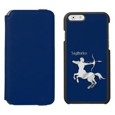 Navy Blue Sagittarius Zodiac IPhone 6 6s Wallet Case