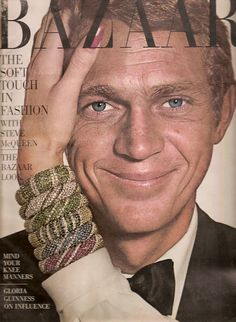 """STEVE McQUEEN  HARPER'S BAZAAR FEBRUARY 1965  RICHARD AVEDON  """"I'm not sure if I'm an actor who races or a racer who acts"""""""