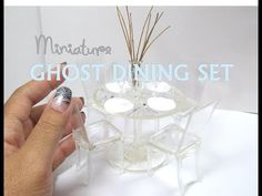 "DIY Plastic and Resin Lucite ""Ghost"" Dining Set Table and Chairs Miniature Dollhouse Furniture - YouTube"