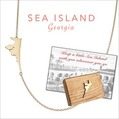 Sea Island necklace by Kerry Gilligan Available in 14k yellow gold or sterling silver