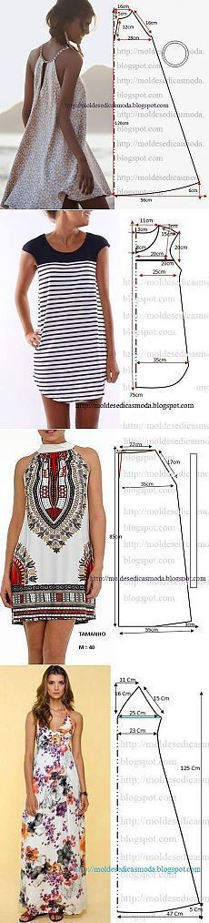 Выкройки к лету diy clothes, diy fashion, dress patterns, dress outfits, simple Diy Clothing, Sewing Clothes, Clothing Patterns, Sewing Patterns, Crochet Patterns, Sewing Hacks, Sewing Tutorials, Sewing Projects, Easy Projects