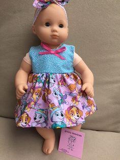 "15/"" Bitty Baby//18/"" American Girl doll Paw Patrol Blanket Girl Skye Boy Everest"