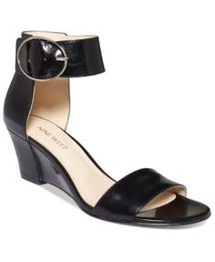 Nine West Ventana Ankle Strap Demi Wedge Sandals