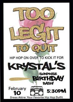 Krystal's Hip Hop Bash  | CatchMyParty.com