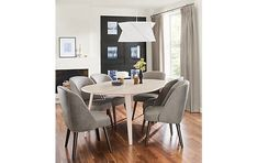 Lowell Extension Table with Cora Chairs - Modern Dining Room Furniture - Room & Board