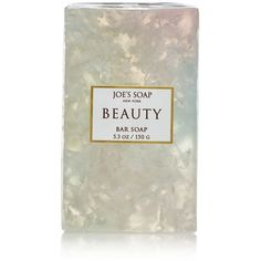 Joe's Soap Beauty Bar Soap ($10) ❤ liked on Polyvore featuring beauty products, bath & body products, body cleansers and white