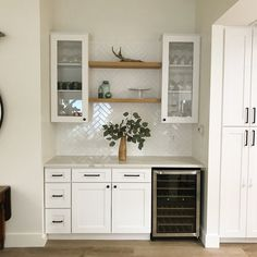 ✔ 76 uniquely inspiring kitchen backsplashes trend of 2019 17 : Oak Floating Shelves, Oak Shelves, Home Wet Bar, Bars For Home, Basement Renovations, Home Renovation, Backsplash Herringbone, Home Bar Areas, Home Bar Designs