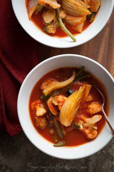 A quick and spicy tomato soup inspired by the flavors of Puttanesca sauce filled with vegetables. There have been many bowls of soup on the menu recently and I don't envision that coming to an end …